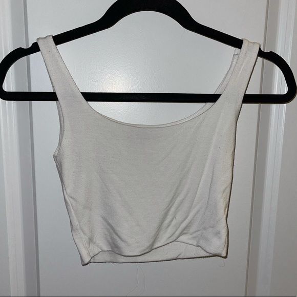 White Kendall & Kylie Crop Top